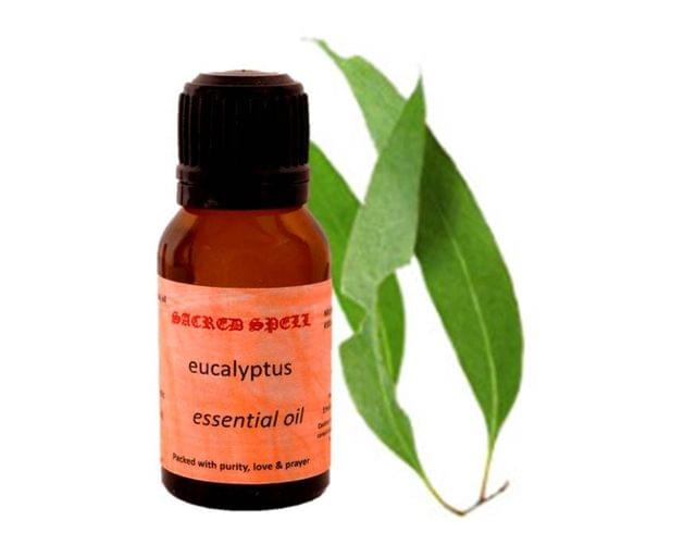 Sacred Spell Eucalyptus Nilgiri Oil (15 Ml): 100% Natural - Ideal For Aromatherapy & Aroma Diffusers Or For Massage Over Skin, Muscle & Joints