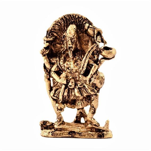Purpledip Rare Miniature Statue Hindu Goddess Mahakali: Unique Collectible Gift (11165)