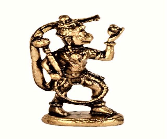 Purpledip Rare Miniature Statue Lord Hanuman Bajarang Bali: Unique Collectible Gift (11175)