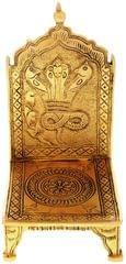 Purpledip Brass Singhasan Throne Chowki: God's Seating In Home Temple (11232)