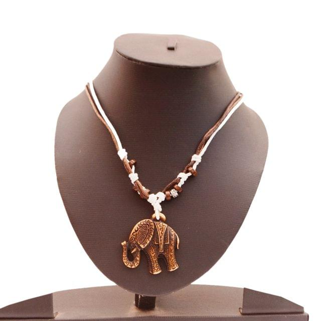 Purpledip Necklace Chain 'Wild Africa': Unique Pendant With Adjustable Cotton Cord   Cool, Funky Fashion Accessory  (30130)