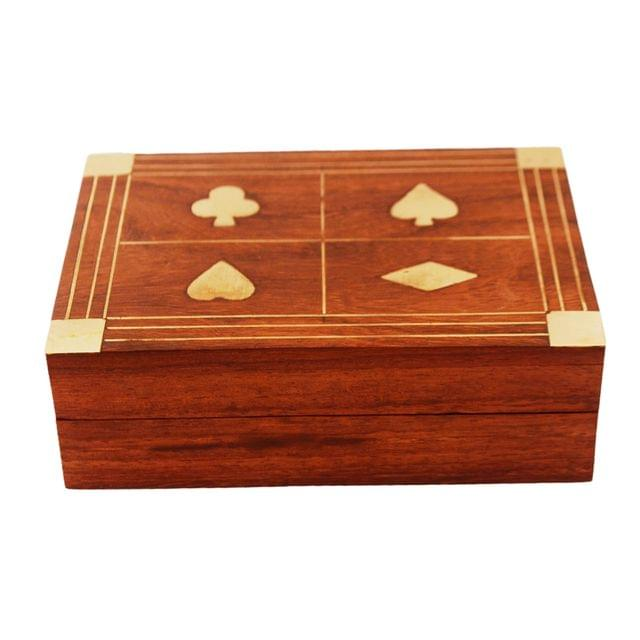 Wooden Box For Playing Cards: Great Gift For Poker Bridge Players (11280)