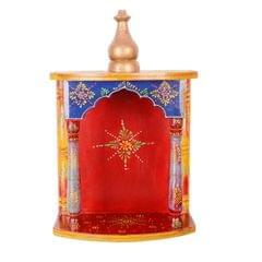 Wooden Temple Pooja Mandir For Table Top Or Walls, Must Have for Hindu Worship  (11283)