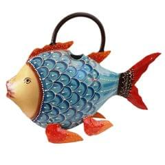 Iron Watering Can 'Fishy Affair': Gardening,Lawn Care, Outdoor-Indoor Patio Water Cans (11285)