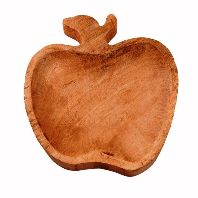 Wooden Serving Tray / Platter 'Healthy Bites': Small Plate For Snacks, Cookies, Fruits Or Aftermints (11290)