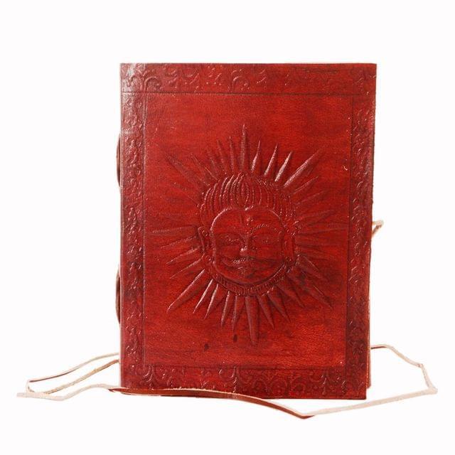 Leather Journal 'Sun God': Handmade Travel Diary Vintage Notebook (11296)