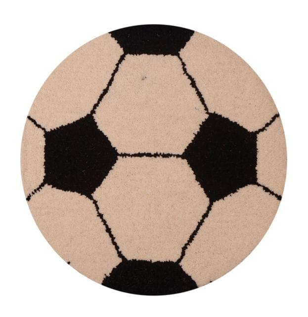Purpledip Football Door Mat: Thick, Soft, Non-skid Floor Carpet Rug (11312)