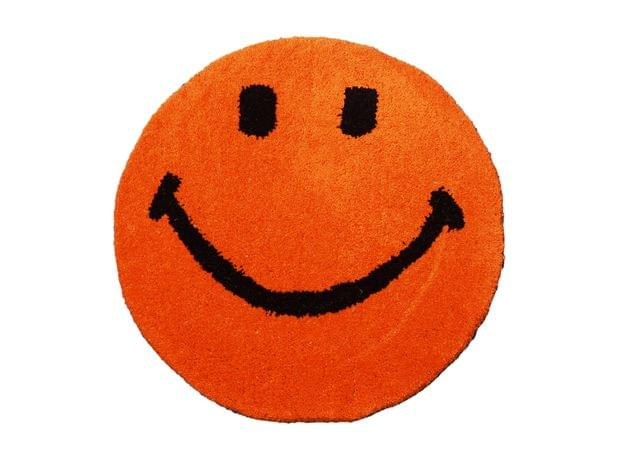 Purpledip Smiley Door Mat: Thick, Soft, Non-skid Floor Carpet Rug (11313a)