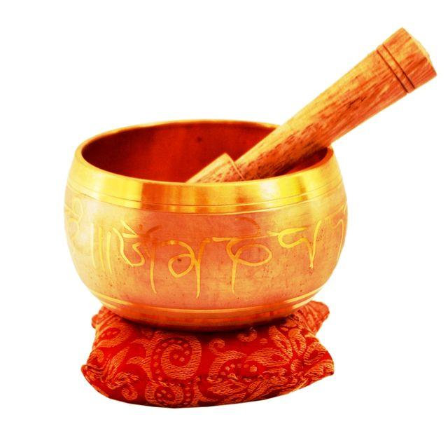 Bell Metal Singing Bowl: Tibetan Buddhist  Musical Instrument Set For Meditation, 4 inches (11317)