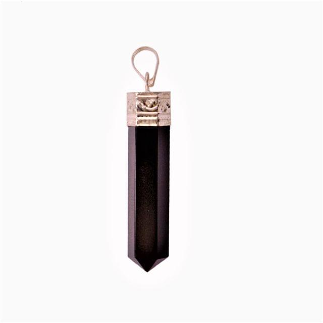 Black Tourmaline Schorl Pendant For Necklace: Reiki Energized Natural Crystals, Good Luck Healing Charm (11327)