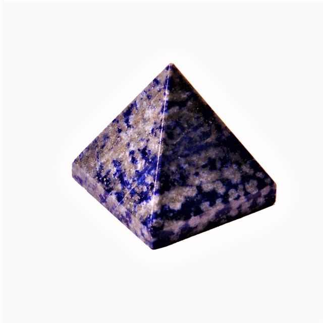 Lapis Lazuli Pyramid: Good Luck Healing Charm Divine Spiritual Crystal (11338)