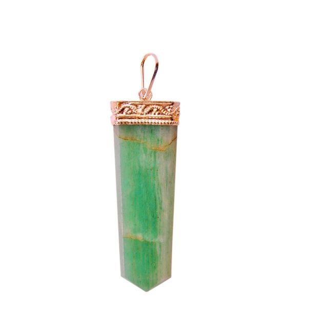 Green Aventurine Pendant: Energized Natural Crystal, Good Luck Healing Charm (11339)