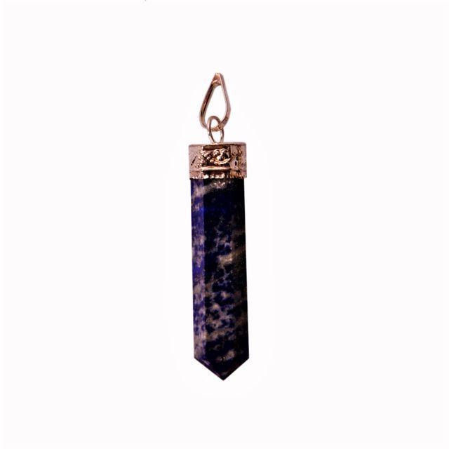 Lapis Lazuli Pendant: Reiki Energized Natural Crystals, Good Luck Healing Charm (11347)
