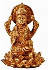 Mini Idol Radha-Krishna in Raasleela Dance: Solid Brass Metal Statue for Home Temple (11392)