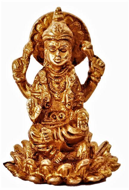 Mini Idol Radha-Krishna in Raasleela Dance: Solid Brass Metal Statue for Home Temple (11392)