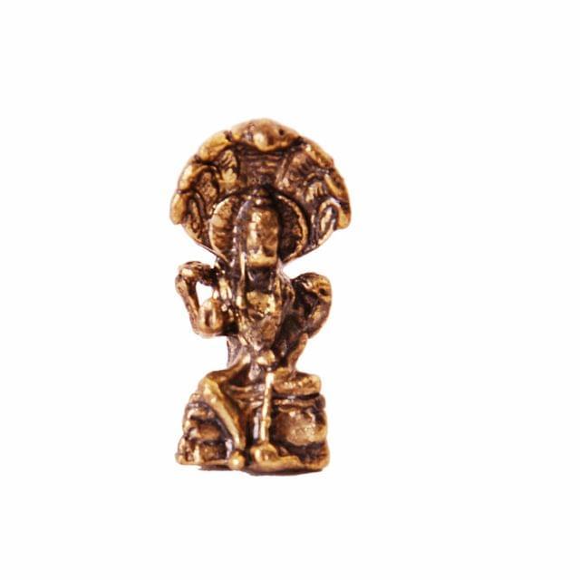 Rare Miniature Statue Lord Vishnu, Unique Collectible Gift (11396)