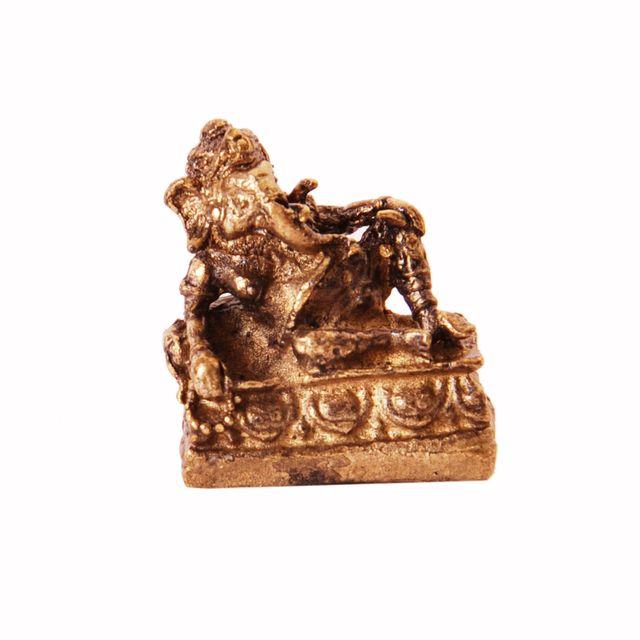 Rare Miniature Statue Atal Ganesha in Resting Posture, Unique Collectible Gift (11398)