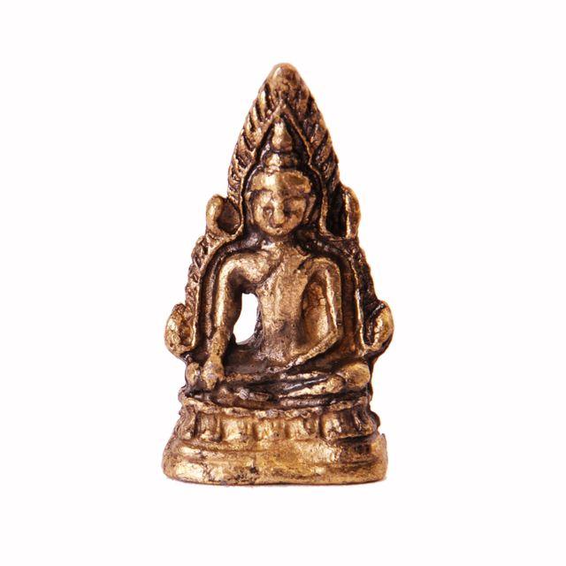 Rare Miniature Statue Lord Buddha in Bhumi-sparsha Mudra, Unique Collectible Gift (11399)