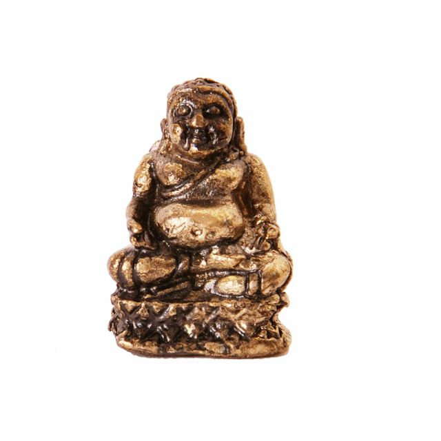 Rare Miniature Statue Laughing Buddha; Unique Collectible Gift (11415)