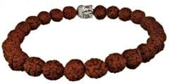 Purpledip Rudraksha Bracelet for All Rashi: Holy 24 Rudraksh Band with Gautam Buddha (11505)