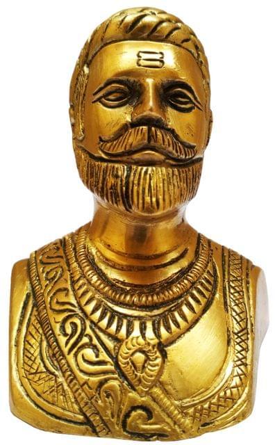 Brass Statue: Chattrapati Shivaji Maharaja, The Maratha Waarior King (11576)