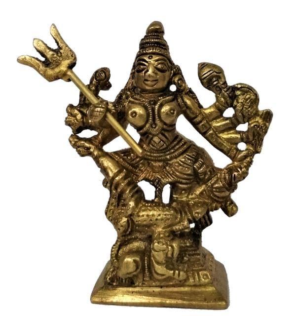 Purpledip Brass Statue Durga Ma: Kali, Parvati, or Adishakti (11586)