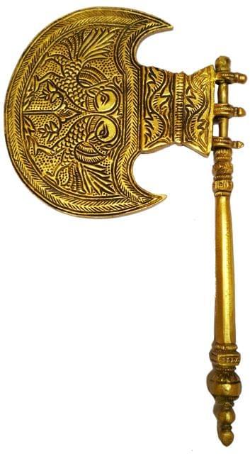 Purpledip Brass Idol God's Pankhi (Hand Fan): Collectible Temple decor (11587)