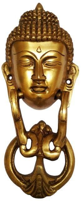Brass Door Knocker: Antique Buddha Design Gate Handle (11595)