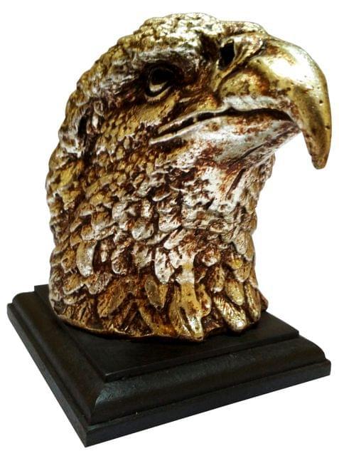 Purpledip Resin Showpiece Majestic Eagle Hawk: Decor Statue (11649)
