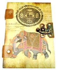 Purpledip Vintage Journal 'Royal Times': Handmade Paper Journal in Printed Hard Cover (11691)