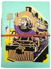 Handmade Journal (Vintage Diary) 'Steam Engine Train': Handmade Paper Notebook; Unique Gift for Personal Memoir (11692)