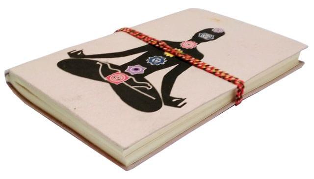 Purpledip Handmade Journal (Vintage Diary) 'Seven Chakras': Handmade Paper Notebook; Unique Gift for Personal Memoir (11695)