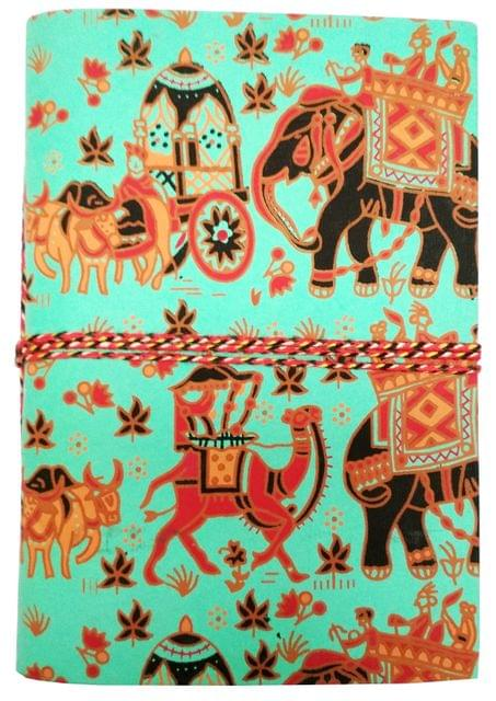 Handmade Journal (Vintage Diary) 'Baraat, A Wedding Procession': Handmade Paper Notebook; Unique Gift for Personal Memoir (11698)