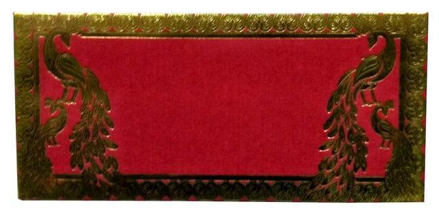 Purpledip Handmade Paper Shagun Envelopes 'Peacock Melody': Pack of 10 (11704)