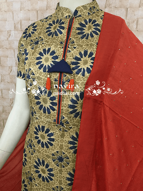 Designer Printed Grey Masleen Silk unstitched top(Very soft and thin material, requires lining) with digital prints, cotton bottom, Pure Chiffon dupatta with work.