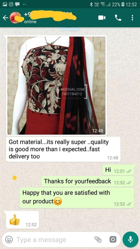 Got material. It's really super. Quality is good more than I expected. Fast delivery too Good.  - Reviewed on 06-Dec-2018