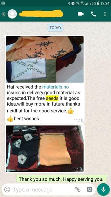 Received the materials. No issues in delivery. Good material as expected. The free seeds it is good idea. Will buy more in future. Thanks neidhal for the good service.  - Reviewed on 16-Dec-2018