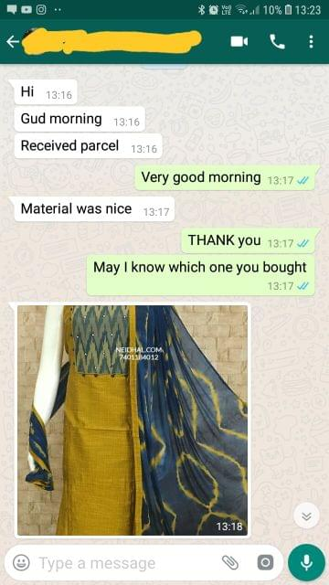 Received parcel. Material was nice. - Reviewed on 29-Dec-2018