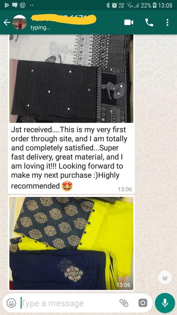 Just received. This is my very first order through site, And I am totally and completely satisfied. Super fast delivery, great material, And I am loving it!!! looking forward to make my next purchase: Highly recommended. - Reviewed on 03-Jan-2019