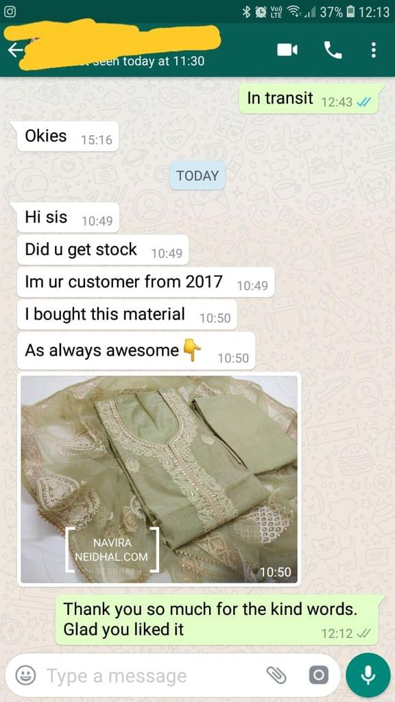I am your customer from 2017.. I bought this material as always awesome   - Reviewed on 17-Jan-2019