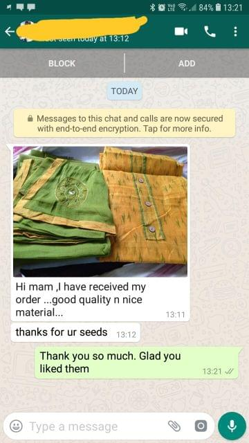 I have received my order.. Good quality.. Nice material. Thanks for your seeds. - Reviewed on 21-Jan-2019