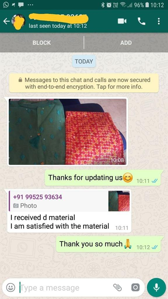 I received the material. I am satisfied with the material..  - Reviewed on 25-Jan-2019