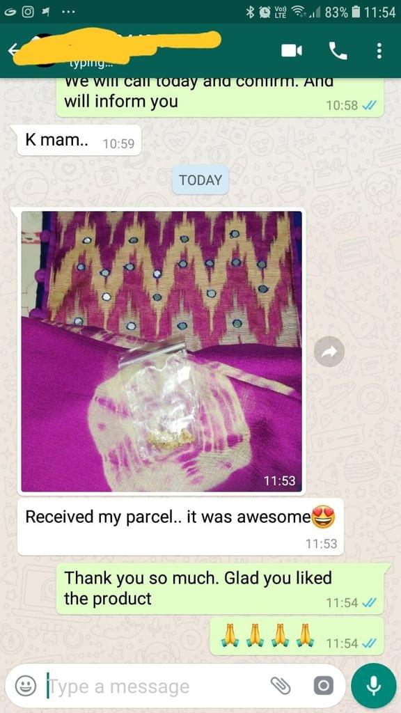 Received my parcel.. It was awesome..   - Reviewed on 30-Jan-2019
