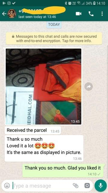 Received the parcel.. Thank you so much.. Loved it a lot.. It's the same as displayed in picture. - Reviewed on 02-Feb-2019