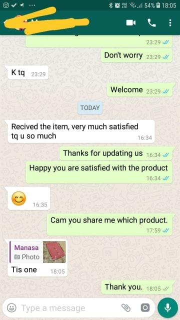 Received the item, Very so much satisfied.. Thank you so much.. This one very nice. - Reviewed on 02-Feb-2019