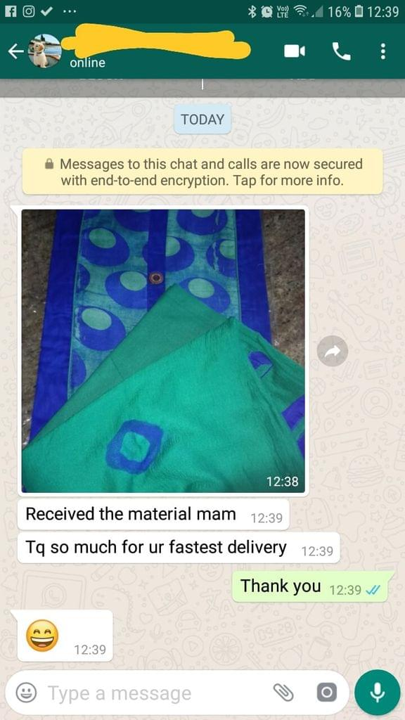 Received the material..... Thank you so much.. For your fastest delivery. - Reviewed on 15-Feb-2019