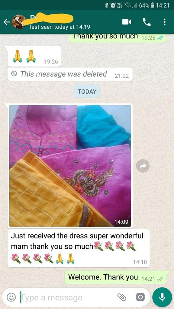 Just received the dress.. Super... Wonderful...Thank you so much. - Reviewed on 18-Feb-2019