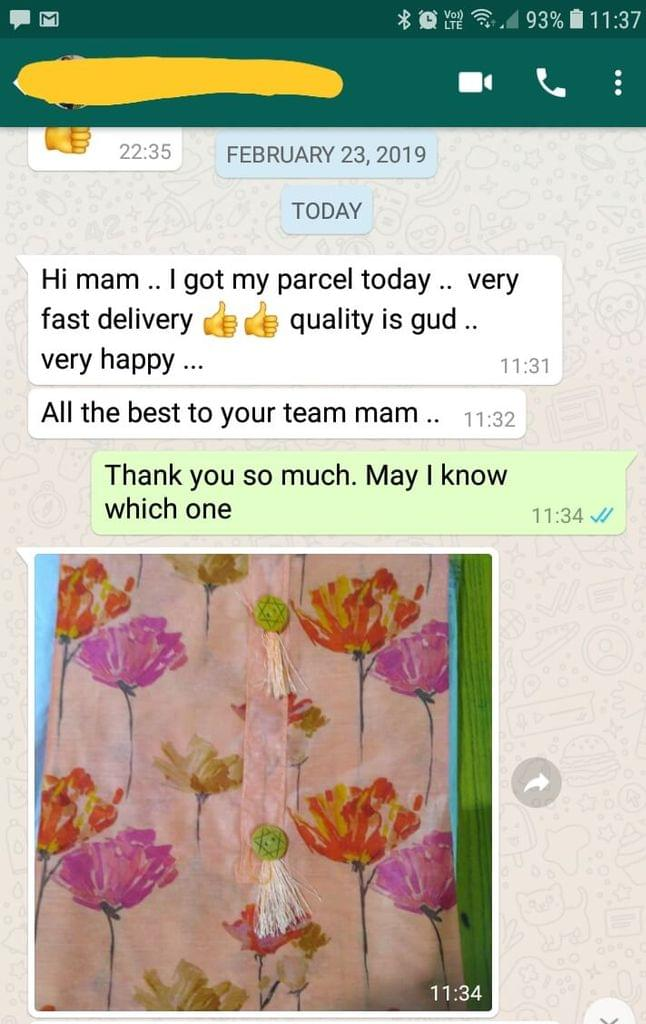 I got the parcel today... Very fast delivery... Good... quality is good... Very happy... All the best your team. - Reviewed on 27-Feb-2019