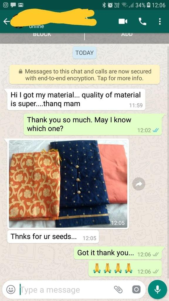 I got my material... Quality of material is super... Thank you... Thanks for your seeds. -Reviewed on 11-Mar-2019