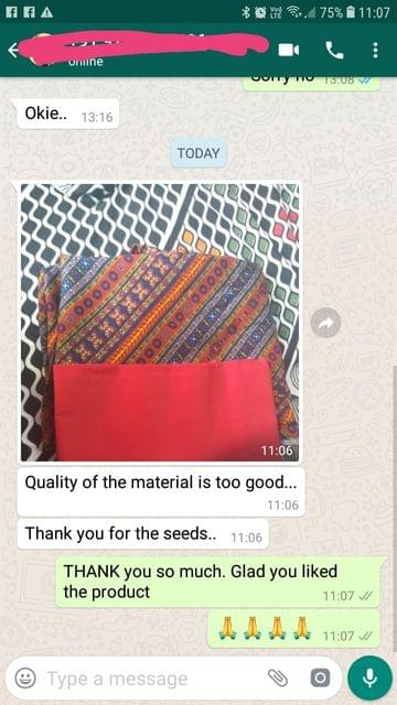 Quality of the material is too good... Thank you for the seeds. -Reviewed on 30-Mar-2019